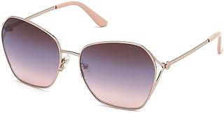 Guess Women's GU768728C Sunglasses, Color: Shiny Rose Gold/Smoke Mirror, Size: 62
