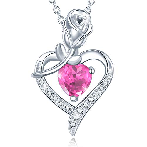 Flower Heart Pendant Necklace from Dad