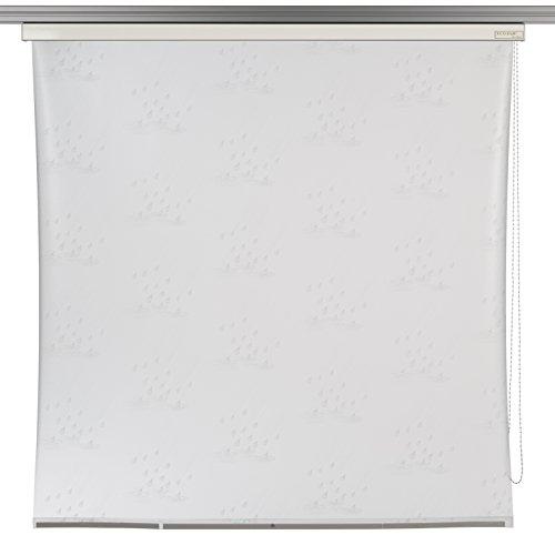 ECO-DuR 4024879001391 Kassetten Duschrollo 134 cm weiß - Tropfen weiß