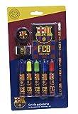 Futbol Club Barcelona- 0 Set de papelería 9 Piezas, Multicolor, 0 (CYP Imports GS-408-BC)