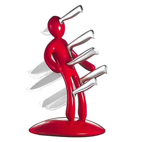 Buding Creatividad Humanoide Set De Cuchillos Multifunción Acero Inoxidable Juego De Portaherramientas Portacuchillas (sin Cuchillo)