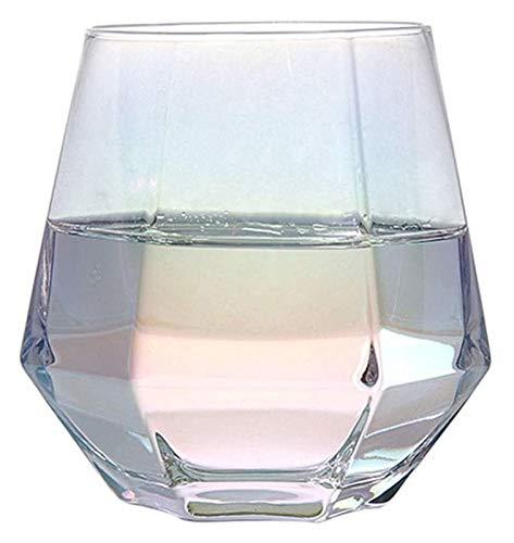 Cristal de vidrio de whisky, vaso hecho a mano, efectos de iluminación Whisky Copas de vino Copa, para beber Bourbon/Gafas de cóctel/Barra Jsmhh (Color : Type4)