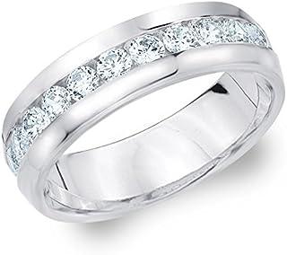 1ct Classic Men's Diamond Ring in 10K Gold, 1.0 cttw Wedding Anniversary Ring for Men