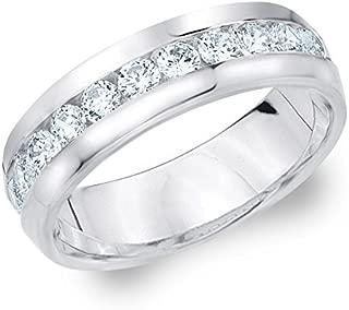 1ct Classic Men's Diamond Ring in 14K Gold, 1.0 cttw Wedding Anniversary Ring for Men