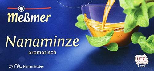 Meßmer Nanaminze | 25 Teebeutel | Vegan | Glutenfrei | Laktosefrei