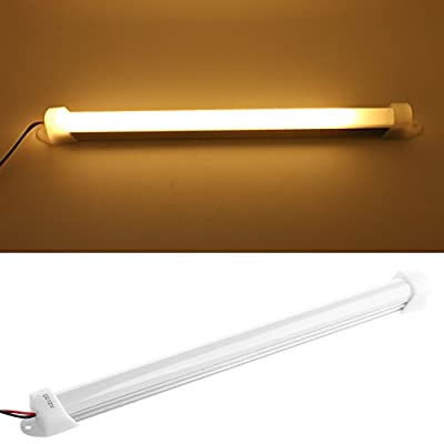 Delight eShop 1PC 12V 5630 9LED Car LED SMD Interior Light Bar Tube Strip Lamp Boat White