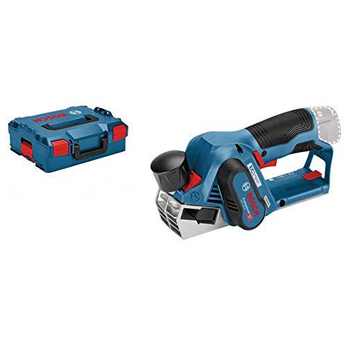Bosch Professional GHO 12V-20 - Cepillo a batería (12V, 14500 rpm, ajuste 2 mm, sin batería, en L-BOXX)