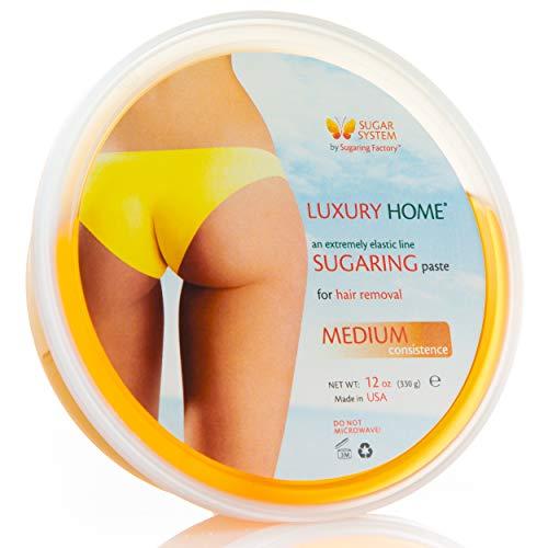 Sugaring Paste Luxury Home – Medium - all purpose paste - Organic Hair Removal for women - Sugar Wax hair remover facial gel