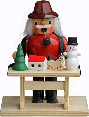 yanka-style Räuchermännchen Räuchermann Räucherfigur Rauchfigur Spielzeugverkäufer ca. 14 cm hoch aus Holz Weihnachten Advent Geschenk Dekoration (90170-14SZ)