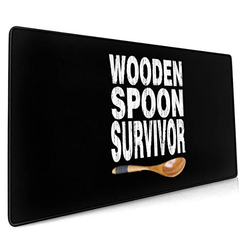 Wooden Spoon Survivor Desk Accessories Non-Slip Rubber Mouse pad Laptop, Table pad, Game Mouse pad.Mouse pad 15.8x35.5 in