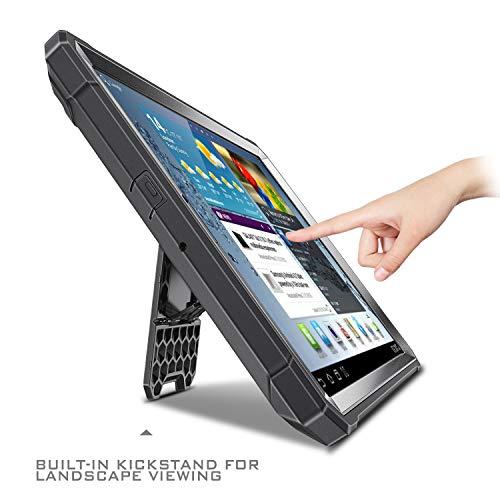 Fintie Hülle für Samsung Galaxy Tab A 10.1 2019 - Ganzkörper-Rugged Hybrid Stand Schutzhülle mit eingebauter Schutzfolie für Samsung Tab A 10.1 Zoll SM-T510/T515 2019 Tablet, Schwarz
