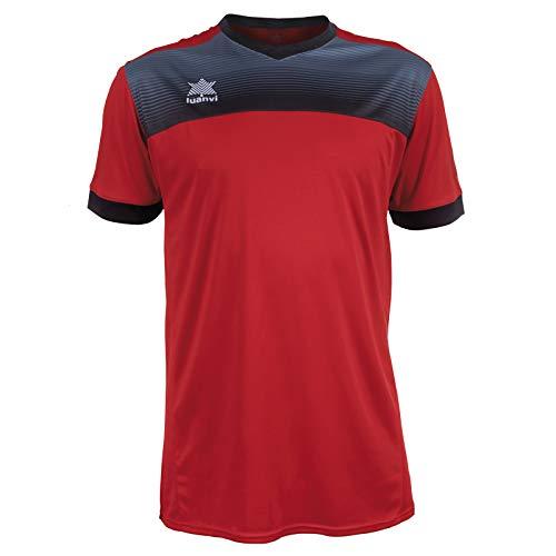 Luanvi Bolton Tennis-Shirt für Herren, kurzärmelig XL rot