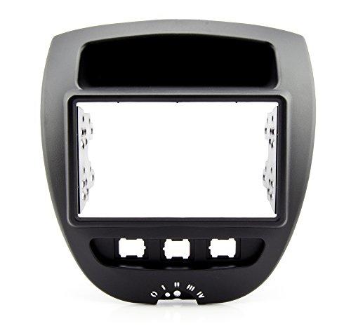 KG Watermark Vertriebs GmbH /& Co mascherina a doppio DIN per autoradio colore argento