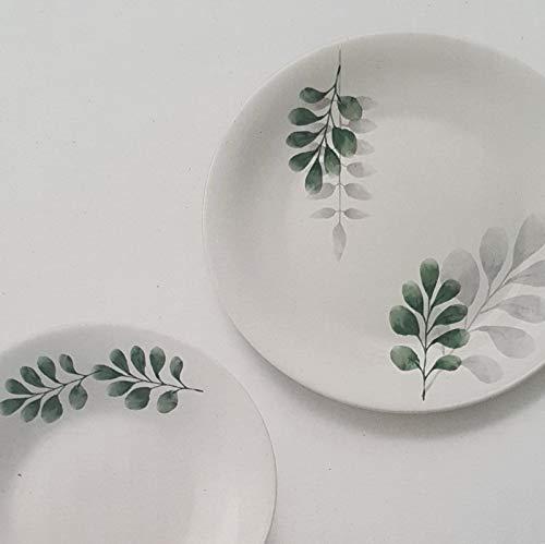 Vajilla botánica verde para 6 personas, 18 piezas Bormioli Rocco