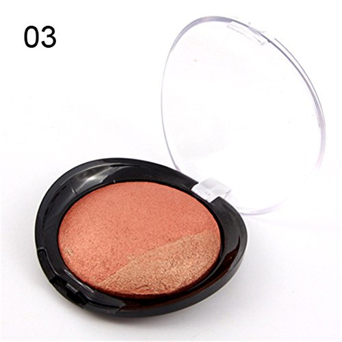 Pure Vie 1 Couleur Palette de Maquillage Blush Cuit Fard à Joues Poudre Cosmétique Set #3 - Convient Parfaitement pour une Utilisation Professionnelle ou à la Maison