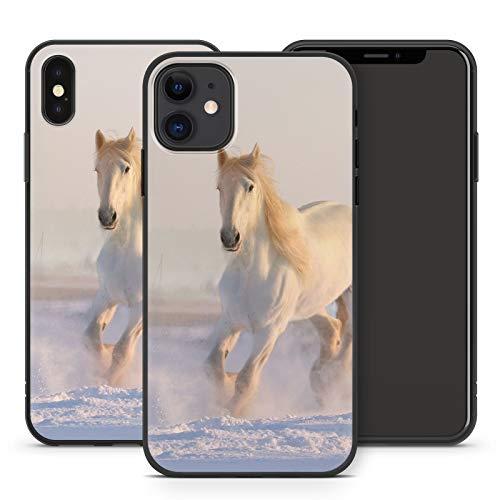 Handyhülle Pferd für iPhone Apple Silikon MMM Berlin Hülle Pferde Reiter Horse Pony Einhorn, Kompatibel mit Handy:Apple iPhone 5 / 5S / SE, Hüllendesign:Design 1 | Silikon Schwarz