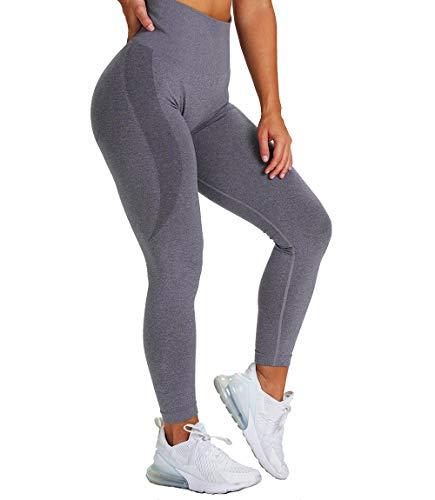 KIWI RATA Leggins Deportivos sin Costuras Mujer Mallas Pantalones Fitness Push up de Cintura Alta Yoga Leggings Pantalón Estiramiento para Running Deporte y Pilates