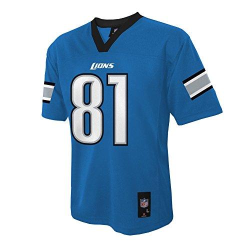 NFL Youth Boys 8-20 MID-TIER JERSEY -TMC JOHNSON C Lion S Lion Blue S (8)