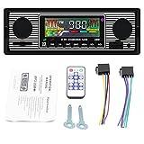 Autoradio Bluetooth, Radio para automóvil con USB / SD / AUX, FM con audio para automóvil, Reproductor multimedia MP3 Reproductor de MP3 digital Llamadas manos libres con control remoto inalámbrico