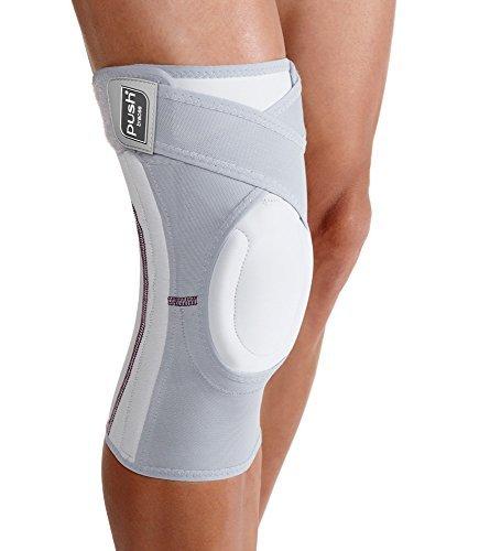 Push Kniebandagefür Halt, Stabilität, Schmerzlinderung, Kompression, Arthrose; angenehm, elastische Materialien, Silikonanwendungen, aus Sympress, mit Mikrofasern, weiche Innenseite