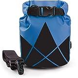 The Friendly Swede Sacca Impermeabile in PVC 500D per Attività all'Aperto e Sport d'Acqua (2 Pezzi) (5+10L / Giallo+Blu)