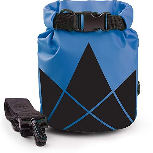 The Friendly Swede Pack de 2 Bolsas Estancas PVC 500D - Bolsa Seca - Mochila Impermeable - Rafting Kayak Pesca Natación Playa Senderismo Camping Deportes Acuáticos (Azul + Amarillo/5L + 10L)