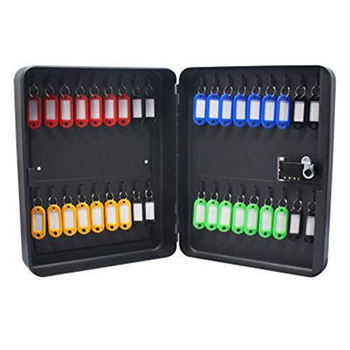 Zhengowen Armario para Llaves 36 Gabinete Key Steel Security Box Lock Moderd Mountable Gabinete de combinación Negro Armario para Llaves para el Hogar (Color : Black, Size : 29.8X7.8x23.8cm)