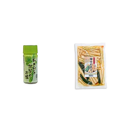 [2点セット] わさびと抹茶のお塩(30g)・青唐辛子 細竹たまり(330g)