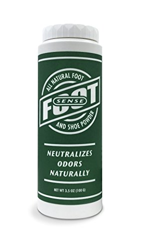 FOOT SENSE All Natural Smelly Foot & Shoe Powder - Foot Odor Eliminator lasts up to 6 months. Safely kills bacteria. Natural formula for smelly shoes and stinky feet. (1 Pack)