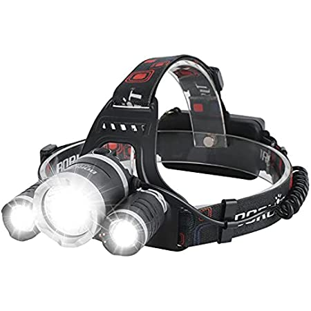 Camping Hiking /& More USB Rechargeable Head Lamp Perfect for Running IPX4 Water Resistant BORUIT Rechargeable LED Headlamp ,3 Lighting Modes 5000 Lumens,White /& Green LEDs
