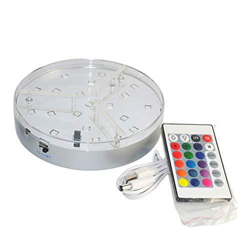 Mobestech Luces LED RGB Luz del florero Luz de la lámpara de la lámpara de la cachimba del control remoto Luz decorativa para Disco de la fiesta KTV de interior (batería incluida)