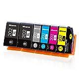 Hicorch Cartucce 202XL Compatibile con Epson 202 XL Cartucce d'inchiostro per Epson Expression Premium XP-6000 XP-6005 XP6000 XP6005 (2 Nero, 1 Nero Foto, 1 Ciano, 1 Magenta, 1 Giallo)