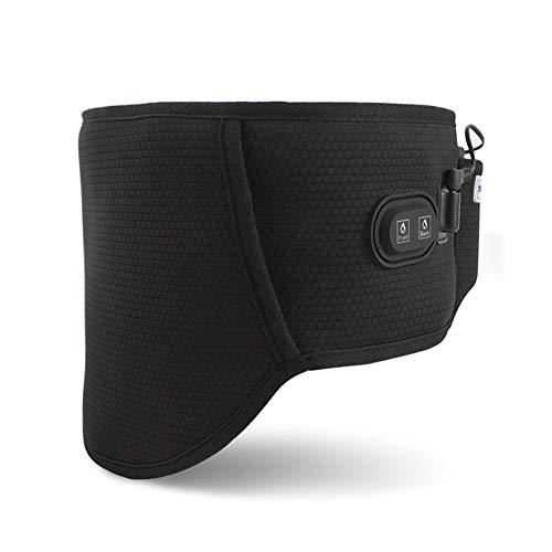ZFF Soporte Lumbar Cinturón Calentamiento Fibra Carbono para Hombre Mujer Gimnasio En...