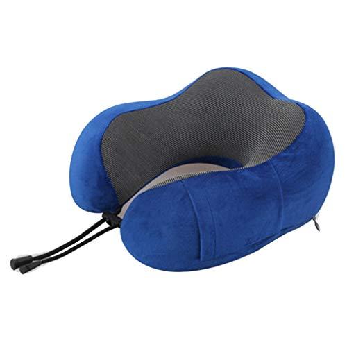 U-shaped pillow En Forma de U en Forma de U Almohada for la Columna Cervical Oficina de la Siesta Artefacto Almohada for Cuello (Color : Azul)