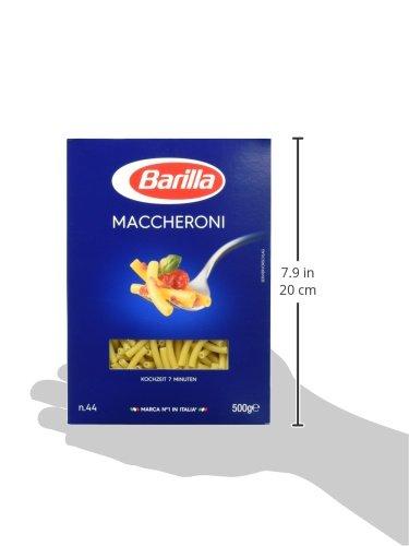 Barilla Hartweizen Pasta Maccheroni n. 44 – 8er Pack (8x500g) - 5
