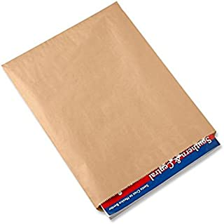A1BakerySupplies® Premium Quality Kraft Paper Bags Flat Merchandise Bags Made in USA 100pack (12 In X 15 In)