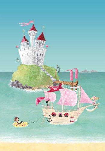 Wandpiraten 4260284290351 Fototapete Pink Pirates, 3 Bahnen, 139.5 x 200 cm
