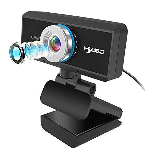 Liteness Webcam HD 1080P Auto Focus USB Webcam, con micrófono ordenador ordenador portátil PC cámara web, para videollamadas grabación conferencia