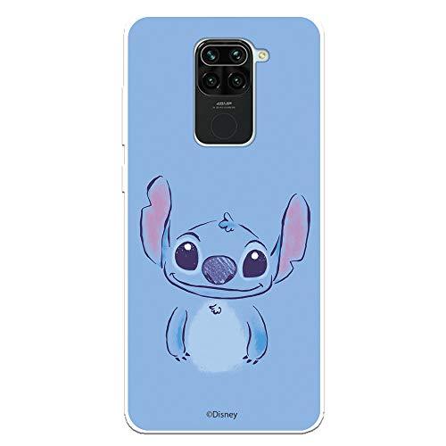 Funda para Xiaomi Redmi Note 9 Oficial de Lilo & Stitch Stitch Azul para Proteger tu móvil. Carcasa para Xiaomi de Silicona Flexible con Licencia Oficial de Disney.