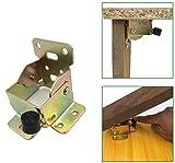2 Pcs estante plegable de 90 grados bisagra autoblocante patas de mesa plegables de acero laminado en frío patas de la cama bisagras de soporte ocultas para extender las patas de la mesa y la silla