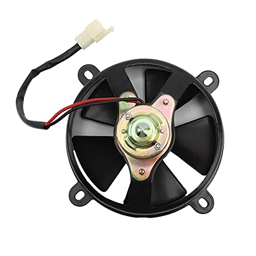 DONG store Radiador del ventilador de enfriamiento de la motocicleta CORRIENTE CONTINUA Ajuste del ventilador de potencia más fresco for el motor enfriado en agua 200-250CC CANAL DE TELEVISIÓN BRITÁNI