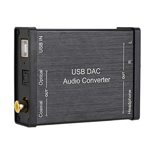 Mini Convertidor Estéreo, Convertidor De Audio De Salida De Auriculares Convertidor De Audio USB DAC con Cable USB para Sistemas Portátiles O De Escritorio