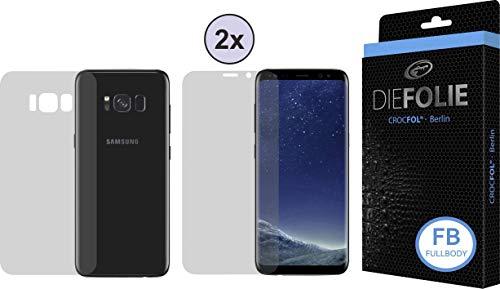 Crocfol Schutzfolie vom Testsieger [3 St.] kompatibel mit Samsung Galaxy S8 - selbstheilende Premium 5D Langzeit-Panzerfolie inkl. Veredelung - für Vorder- & Rückseite