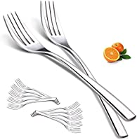 forchette per posate per la cena, forchette in acciaio inossidabile da 12 pezzi set lucidate a specchio per la casa, la cucina, la festa, il ristorante