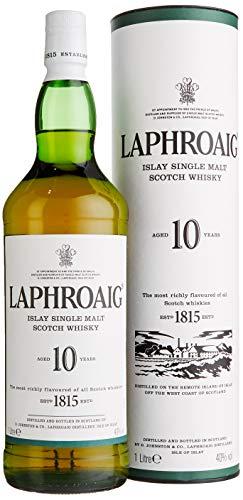 Laphroaig 10 Years Old mit Geschenkverpackung Whisky (1 x 1 l)