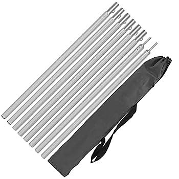 Hipier Arceaux de Tente Aluminium mât de Fixation pour Voile D'ombrage Poteaux de Tente Réglable de Construction pour Camping Randonnées Abri et Porche Auvent Ensemble (Aluminium, 200mm)