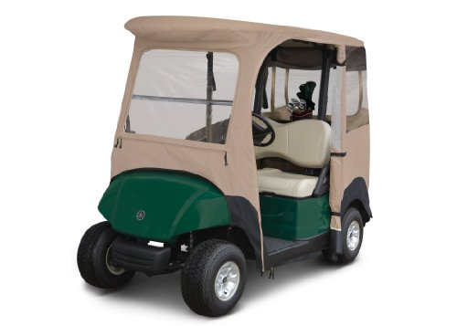 Classic Accessories Fairway Deluxe 4-Sided 2-Person Golf Cart Enclosure For Yamaha, Tan