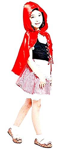 Inception Pro Infinite Costume - Travestimento - Carnevale - Halloween - Cappuccetto Rosso - Favole - Colore Rosso - Bambina - Taglia L - 6 - 7 Anni - Idea Regalo Originale