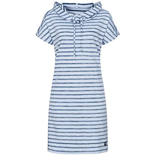 super.natural Robe sans Manches pour Femme L Blazer à Rayures Fines imprimé Skyway/Bleu Marine.