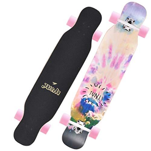 Helmets Longboard 42 Zoll Longboard Skateboards Bambus mit Hard Maple Core Cruising, Carving, Tanzen, Freestyle,06